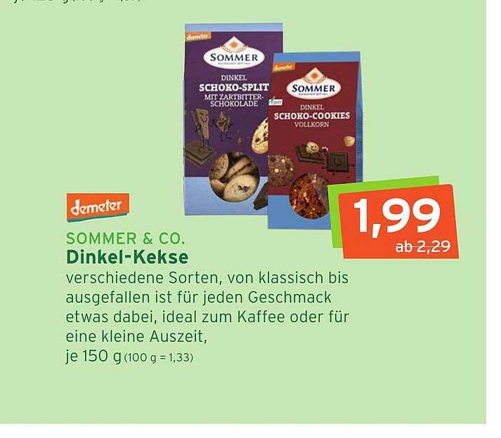 Naturgut Sommer & Co. Dinkel-kekse