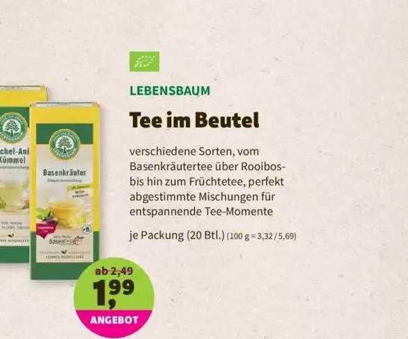 Denns Biomarkt Tee Im Beutel Lebensbaum