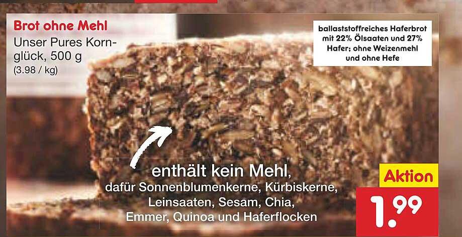 Netto Marken-Discount Brot Ohne Mehl
