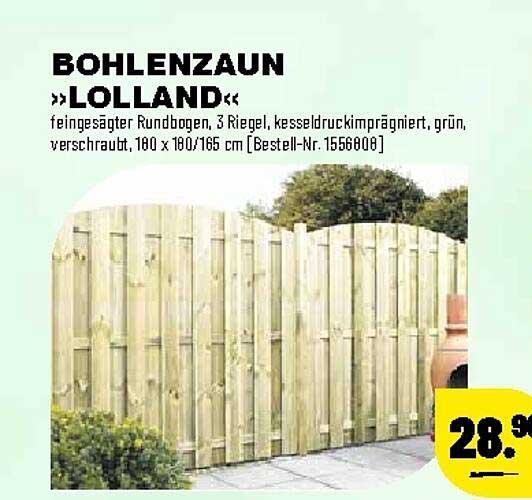 """Leitermann Baumarkt Bohlenzaun """"lolland"""""""