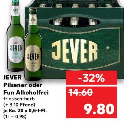 Kaufland Jever Pilsener Oder Fun Alkoholfrei