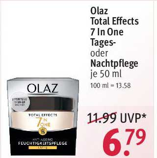ROSSMANN Olaz Total Effects 7 In One Tages Oder Nachtpflege