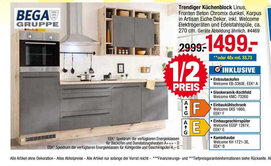 Möbelpiraten Bega Gruppe Trendiger Küchenblock