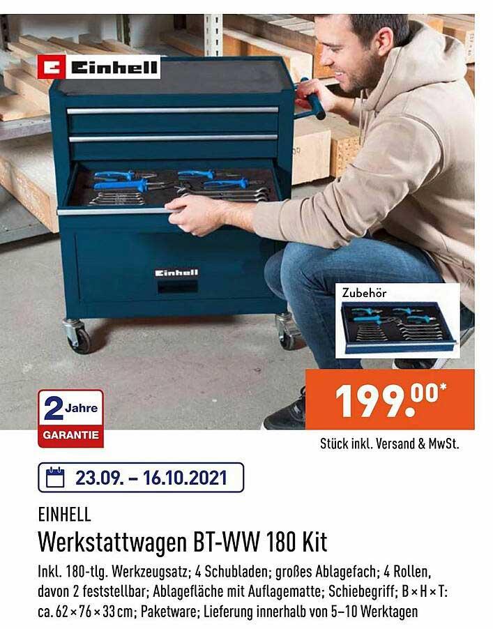 ALDI Nord Einhell Werkstattwagen Bt-ww 180 Kit