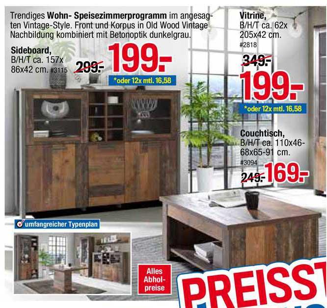 Möbelpiraten Wohn- Speisezimmerprogramm