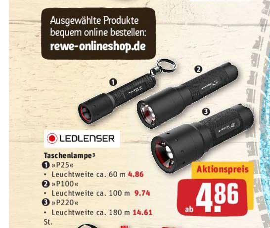 REWE Ledlenser Taschenlampe P25, P100 Oder P220