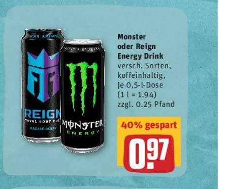 REWE Monster Oder Reign Energy Drink