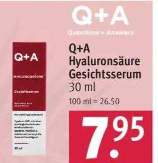 ROSSMANN Q+a Hyaluronsäure Gesichtsserum