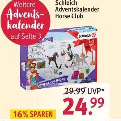 ROSSMANN Schleich Adventskalender Horse Club