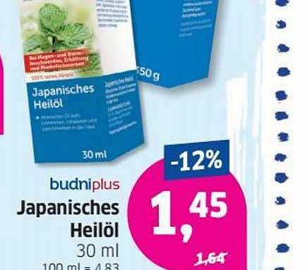 Budni Budniplus Japanisches Heilöl