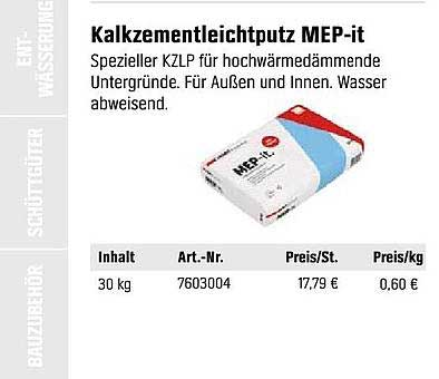 OBI Kalkzementleichtputz MEP It