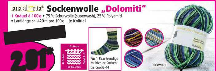 "NORMA Sockenwolle ""dolomiti"""