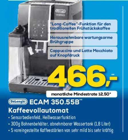 Euronics Delonghi Ecam 350.55b Kaffeevollautomat