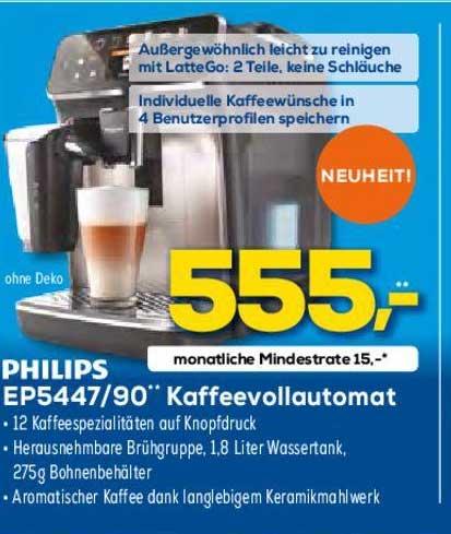 Euronics Philips Ep5447 90 Kaffeevollautomat