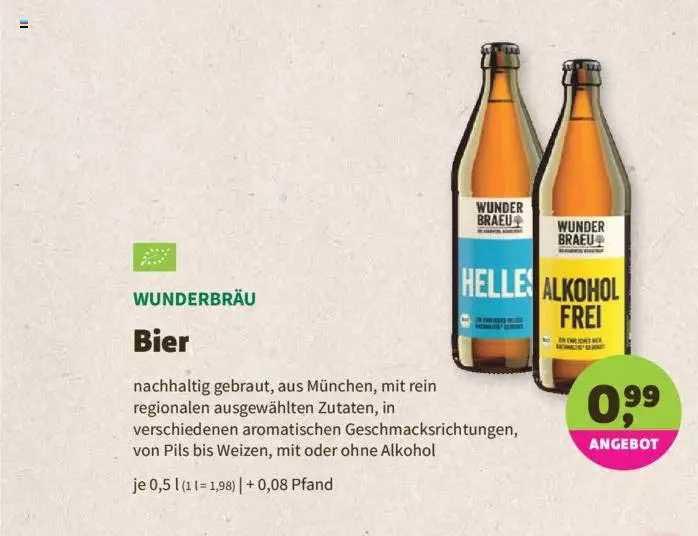 Denns Biomarkt Wunderbräu Bier