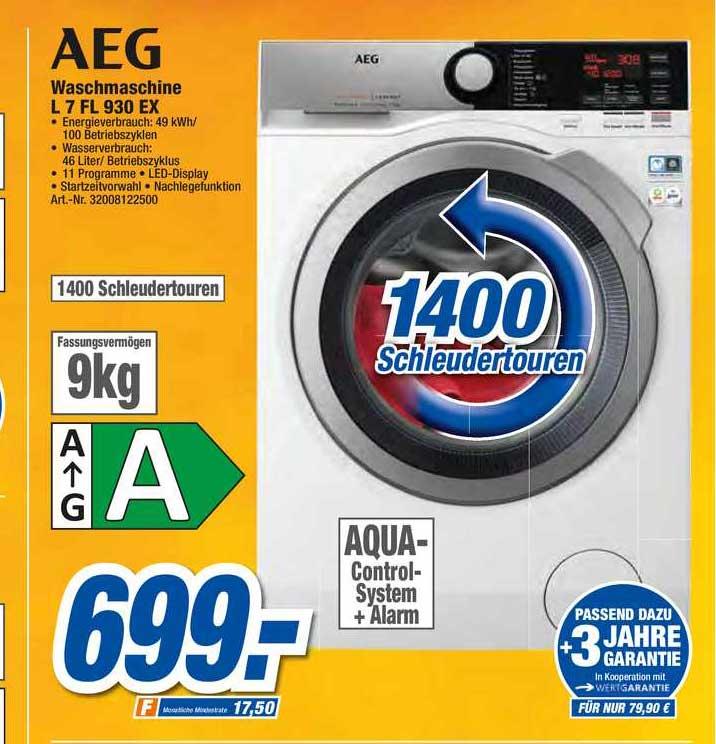 Expert Techno Land Aeg Waschmaschine L 7 Fl 930 Ex