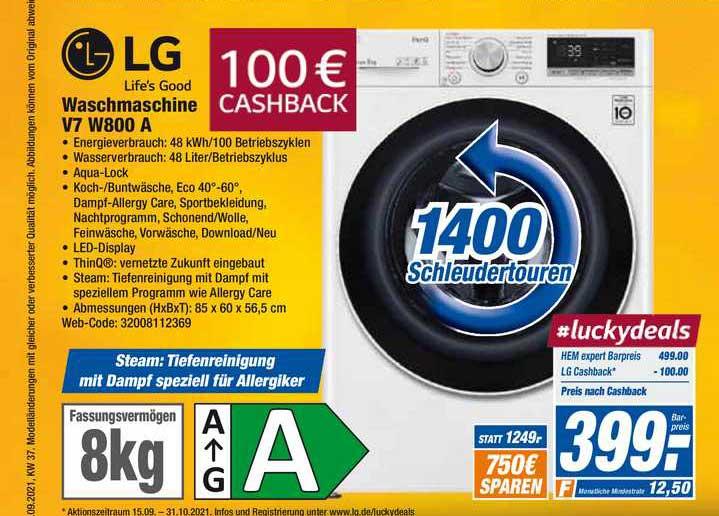 HEM Expert Lg Waschmaschine V7 W800 A