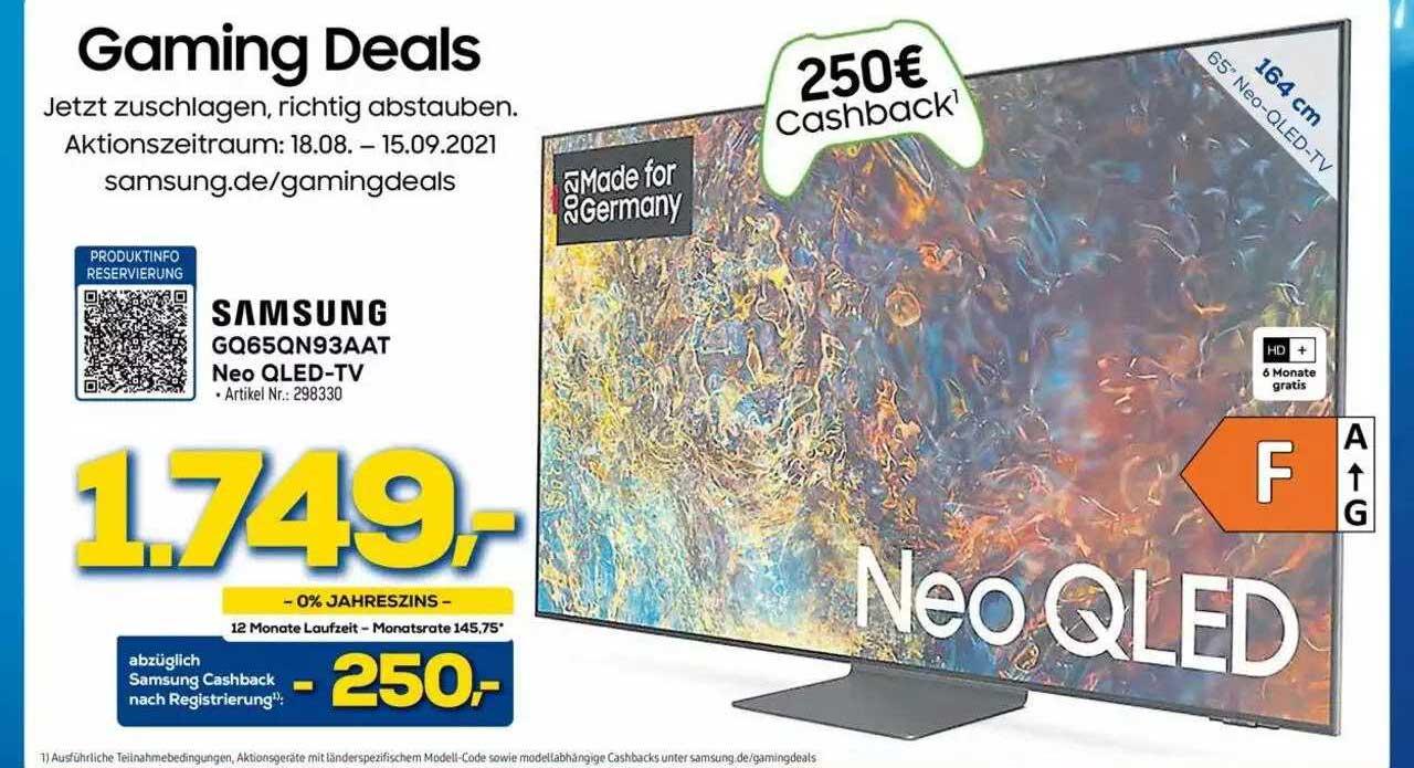 Euronics Samsung Gq65qn93aat Neo Qled-tv