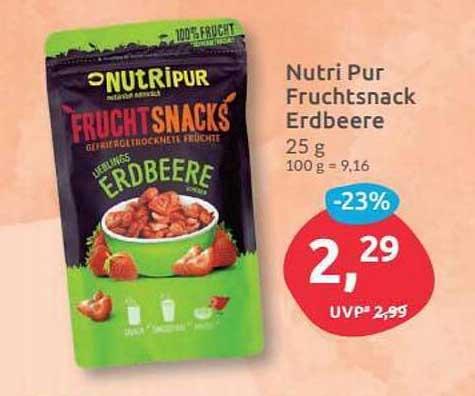 Budni Nutir Pur Fruchtsnack Erdbeere