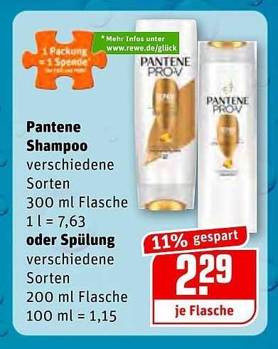 REWE Pantene Shampoo Oder Spülung
