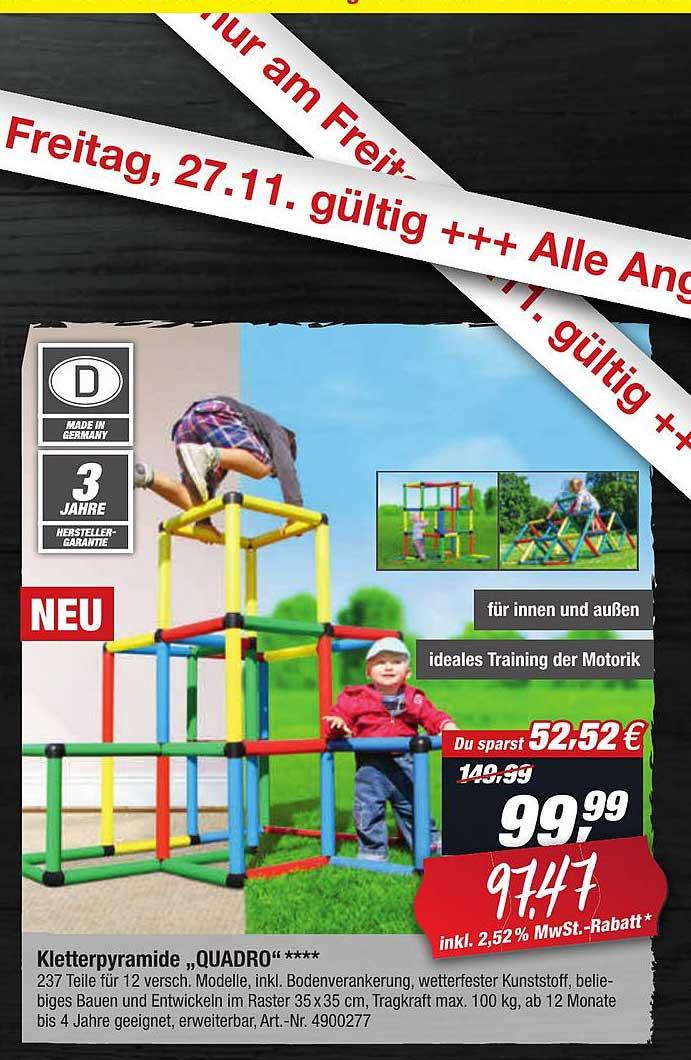 "Toom Baumarkt Kletterpyramide ""quadro"""