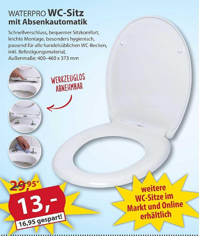 Sonderpreis Baumarkt Waterpro Wc Sitz Mit Absenkautomatik