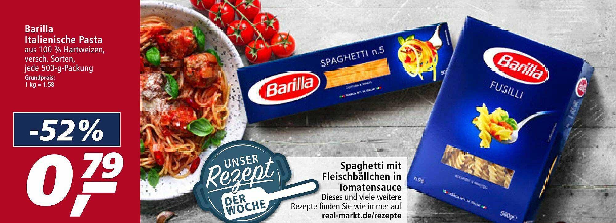 Real Barilla Italienische Pasta