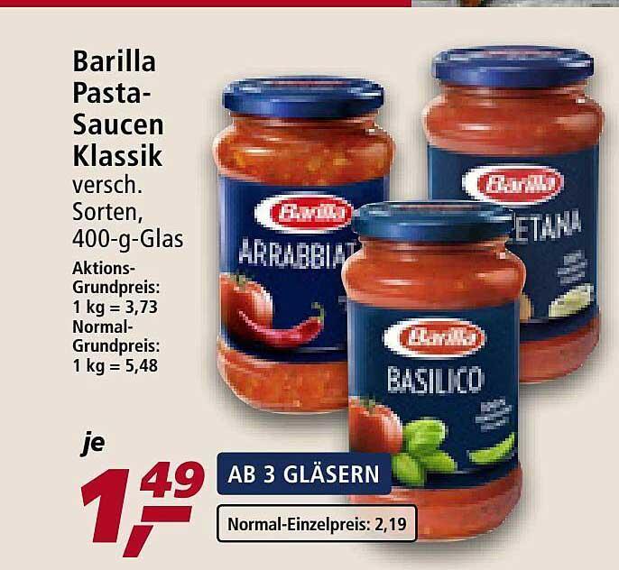 Real Barilla Pasta-saucen Klassik