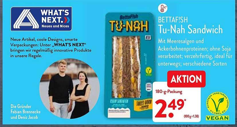 ALDI Nord Bettafish Tu-nah Sandwich