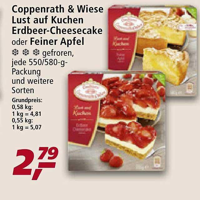Real Coppenrath & Wiese Lust Auf Kuchen Erdbeer-cheesecake Oder Feiner Apfel