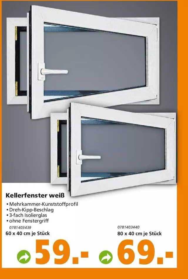 Globus Baumarkt Kellerfenster Weiß