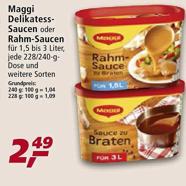 Real Maggi Delikatess-saucen Oder Rahm-saucen