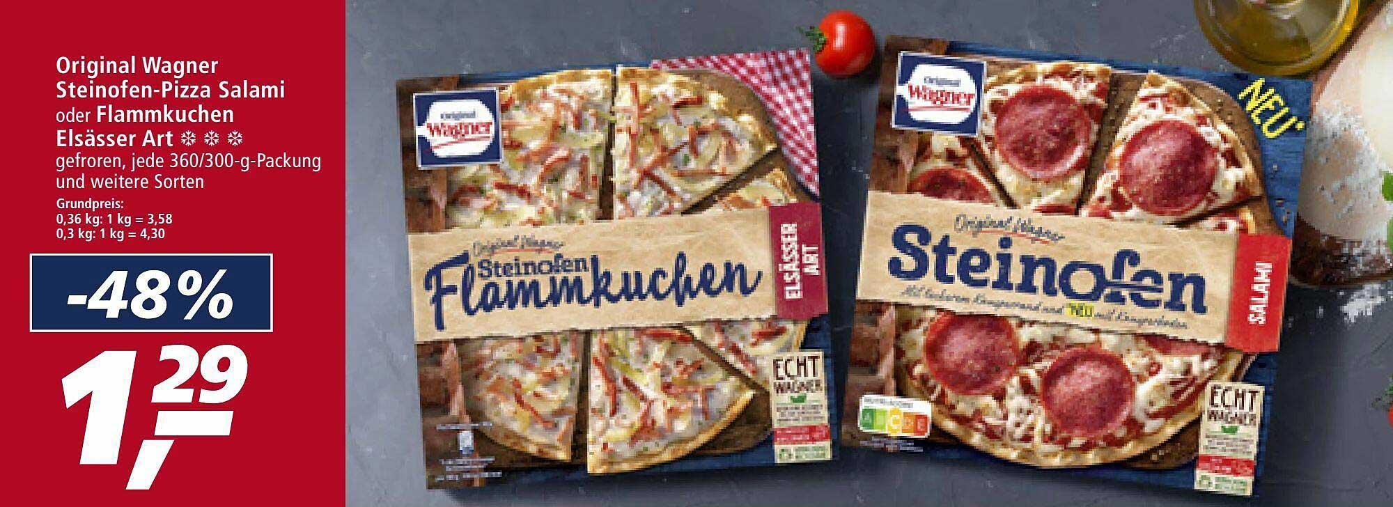 Real Original Wagner Steinofen-pizza Salami Oder Flammukchen Elsässer Art