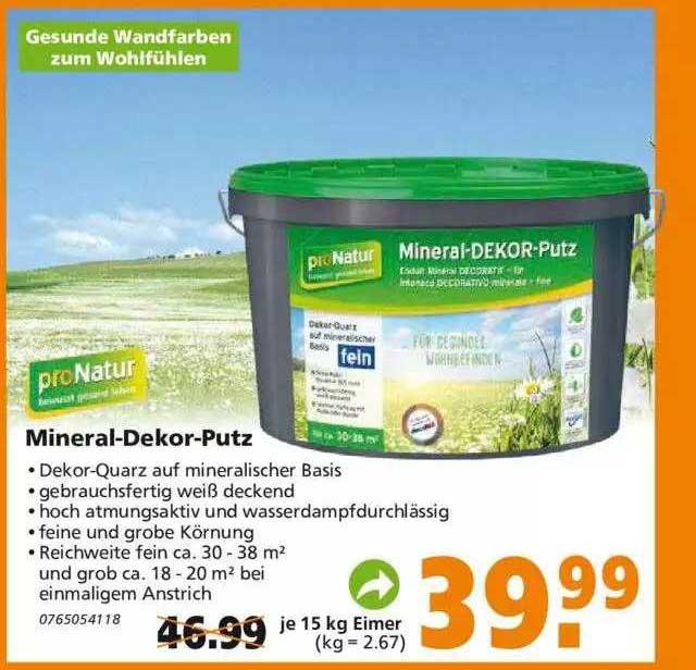 Globus Baumarkt Pronatur Mineral-dekor-putz