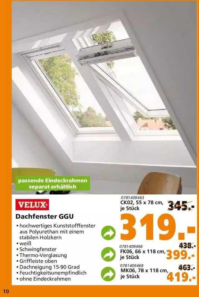 Globus Baumarkt Velux Dachfenster Ggu