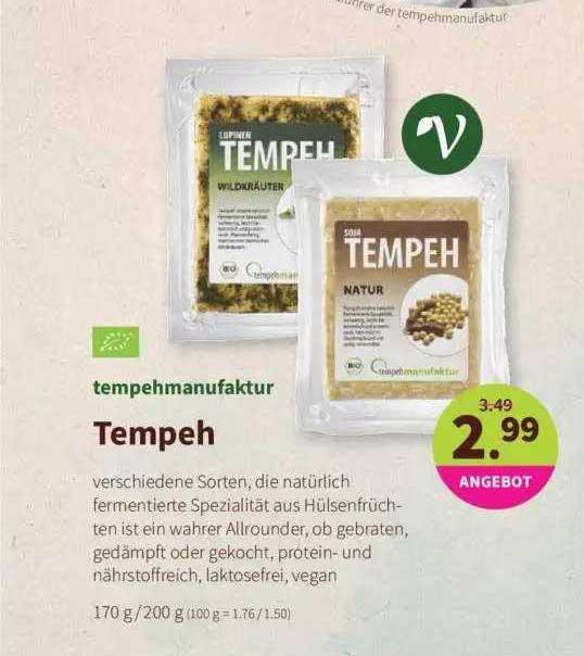 Denns Biomarkt Tempehmanufaktur Tempeh