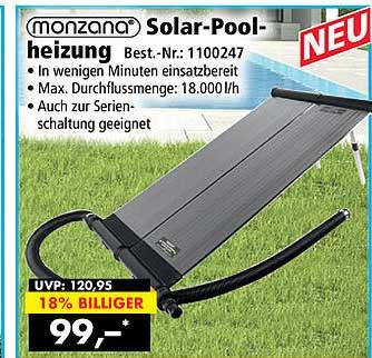 Norma24 Monzana Solar-poolheizung