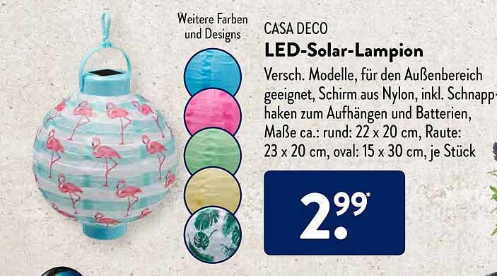 ALDI SÜD Casa Deco Led-solar-lampion
