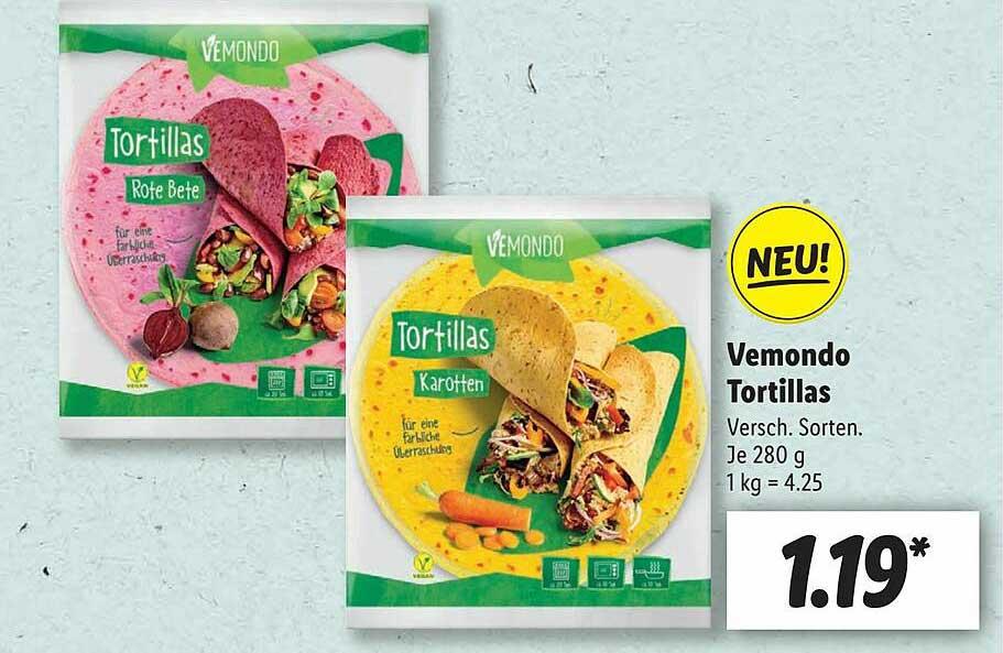 Lidl Vemondo Tortillas