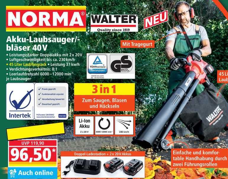 NORMA Akku-laubsauger Bläser 40v Walter