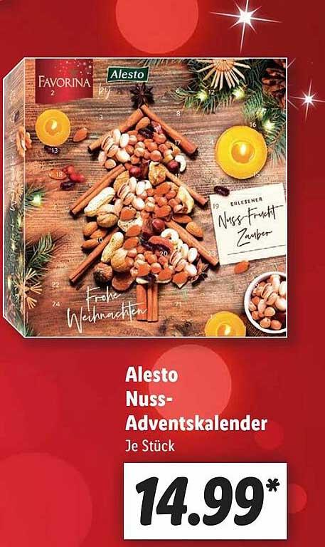 Lidl Alesto Nuss- Adventskalender