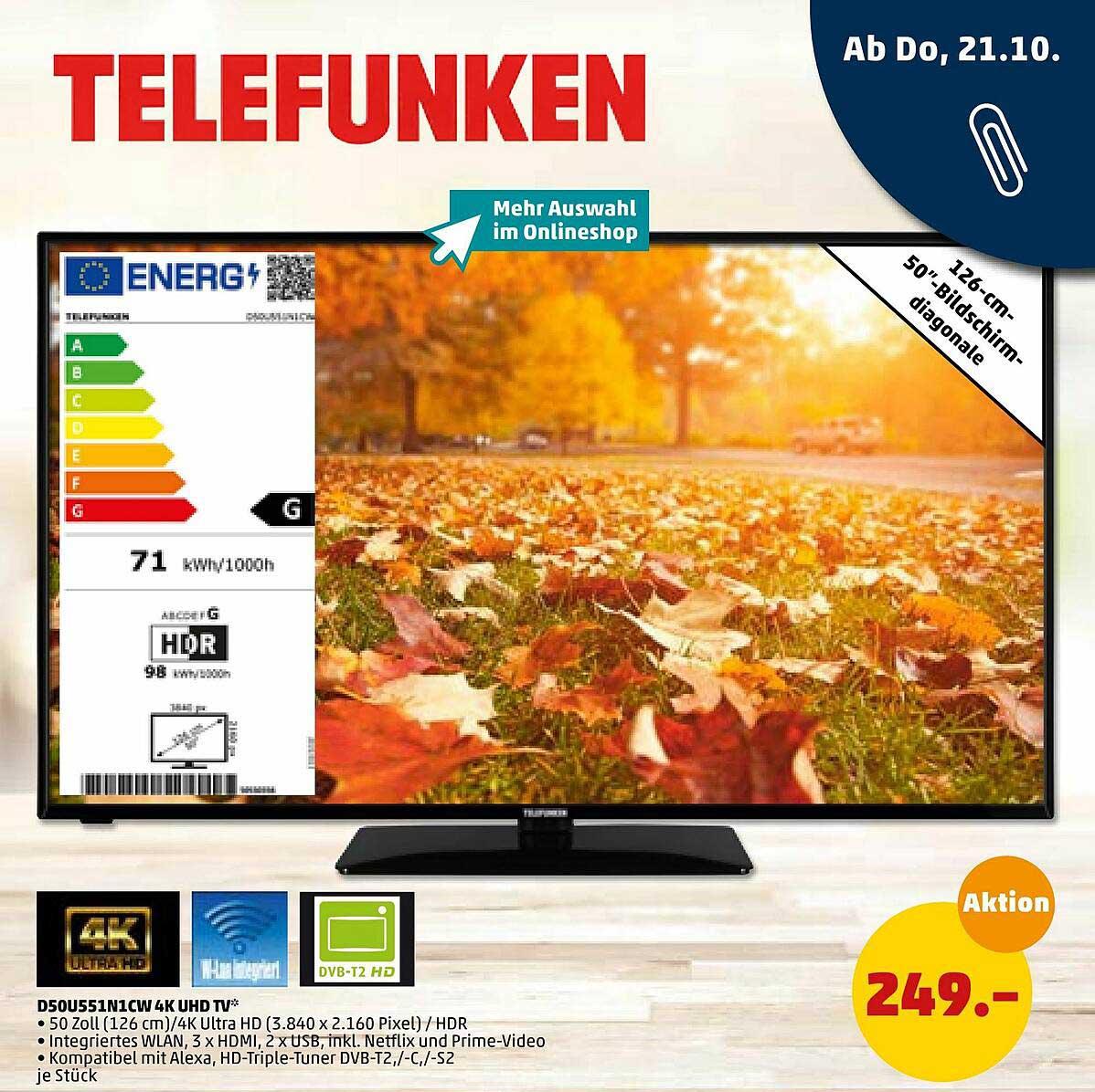 Penny D50u551n1cw 4k Uhd Tv