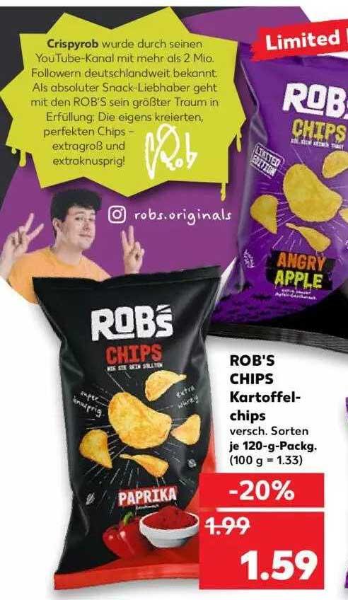 Kaufland Rob's Chips Kartoffelchips