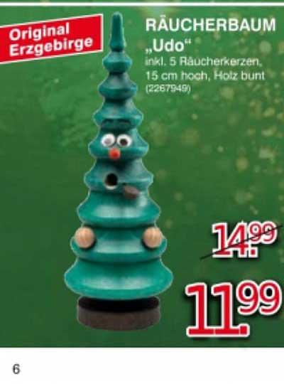 """Leitermann Baumarkt Original Erzgebirge Räucherbaum """"udo"""""""