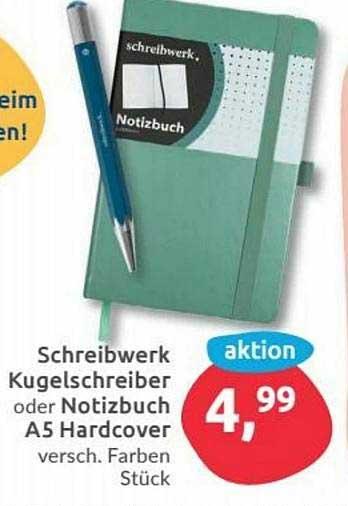 Budni Schreibwerk Kugelschreiber Oder Notizbuch A5 Hardcover