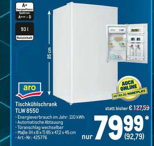 METRO Aro Tischkühlschrank TLW 8550