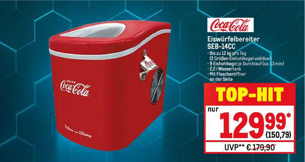 METRO Coca Cola Eiswürfelbereiter SEB 14CC