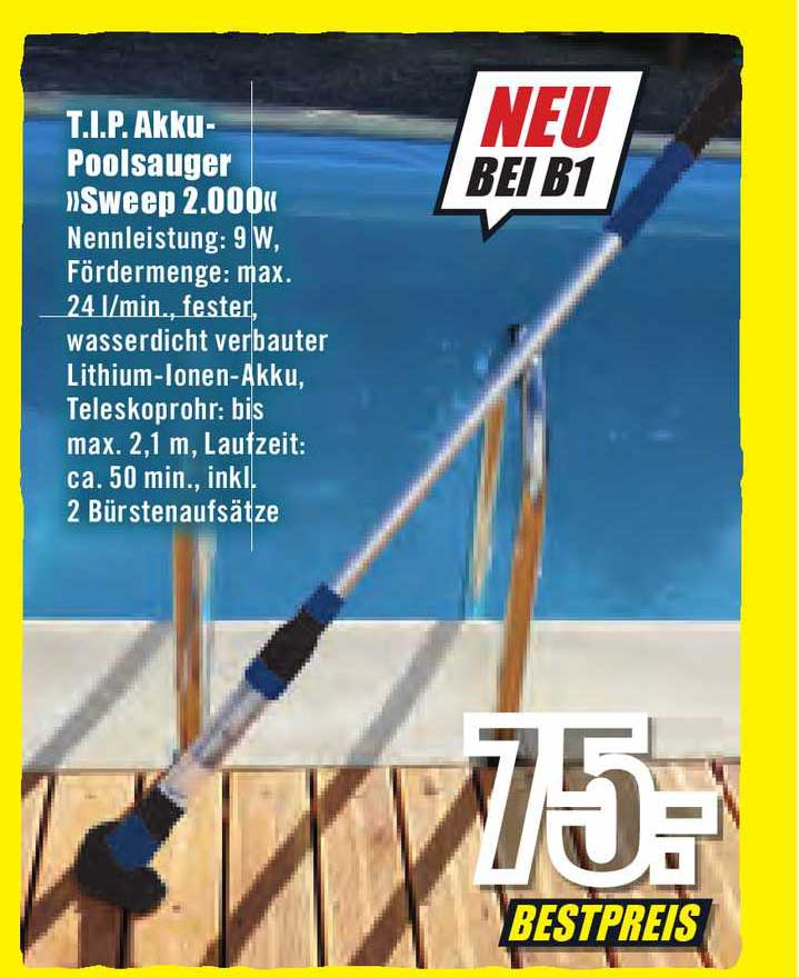 "B1 Discount Baumarkt Tip Akku-poolsauger ""sweep 2000"""