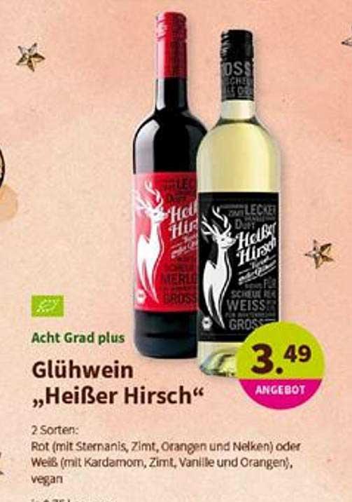 """BioMarkt Glühwein """"heißer Hirsch"""""""