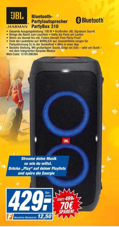 HEM Expert Jbl Bluetooth Partylautsprecher Partybox 310